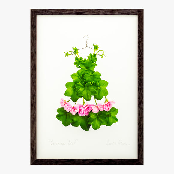 geranium leaf dress art print by petal & pins