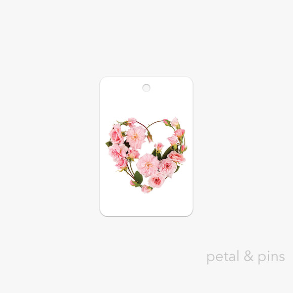 my heart's abloom gift tag by petal & pins