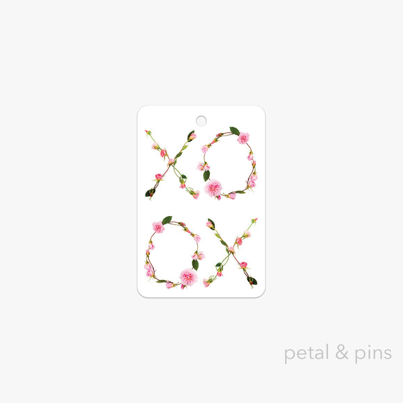 rose kisses gift tag by petal & pins