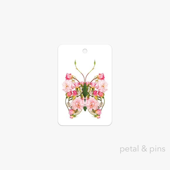 butterfly pearls gift tag by petal & pins