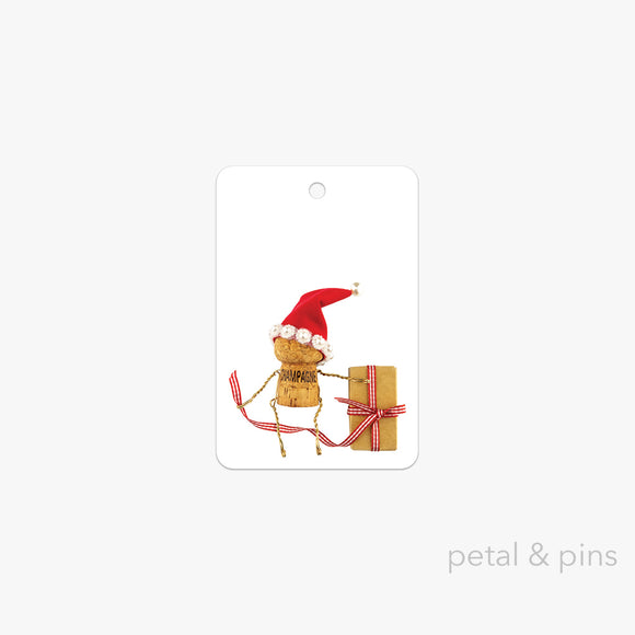 naughty & nice Christmas gift tag by petal & pins