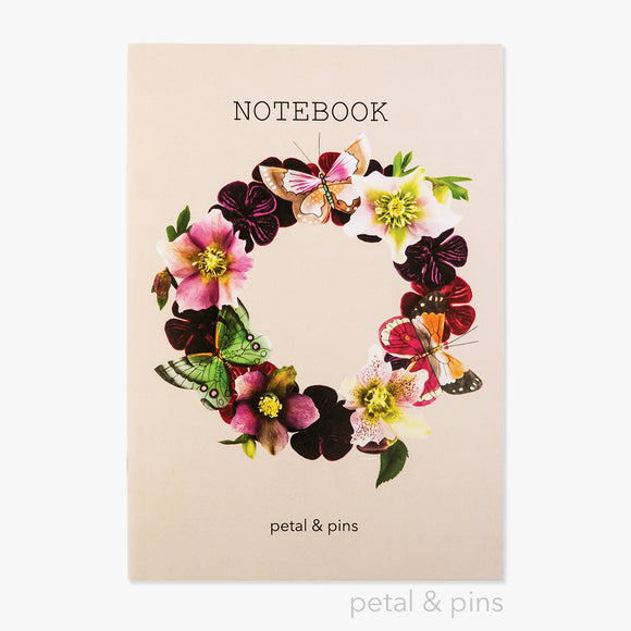 butterfly garland notebook - latte - by petal & pins