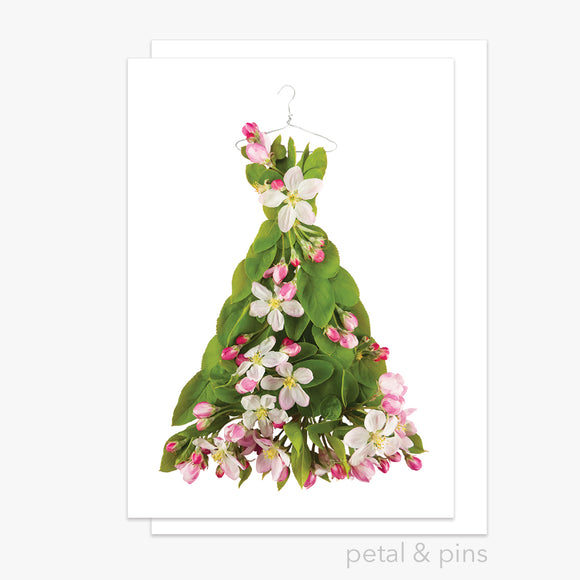 apple blossom dress greeting card by petal & pins