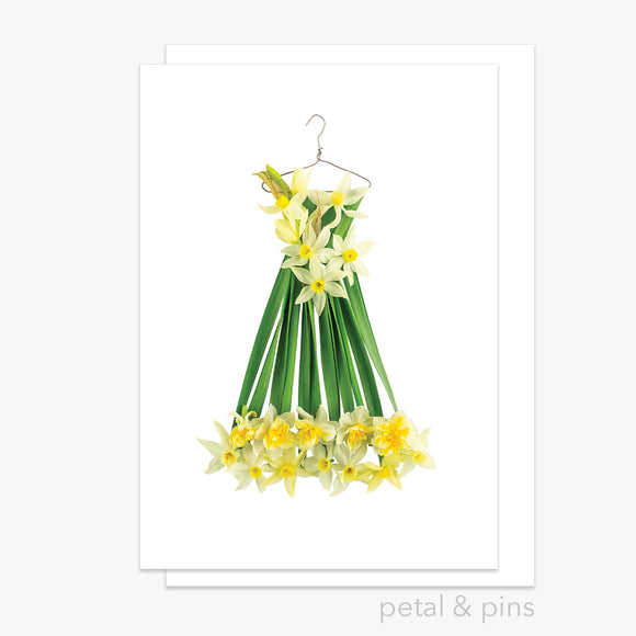jonquil dress greeting card by petal & pins