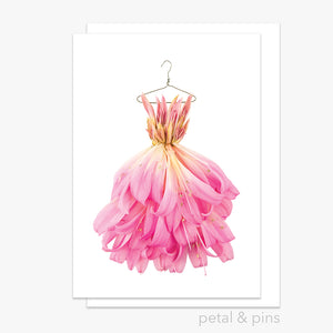 belladonna lily dress greeting card by petal & pins