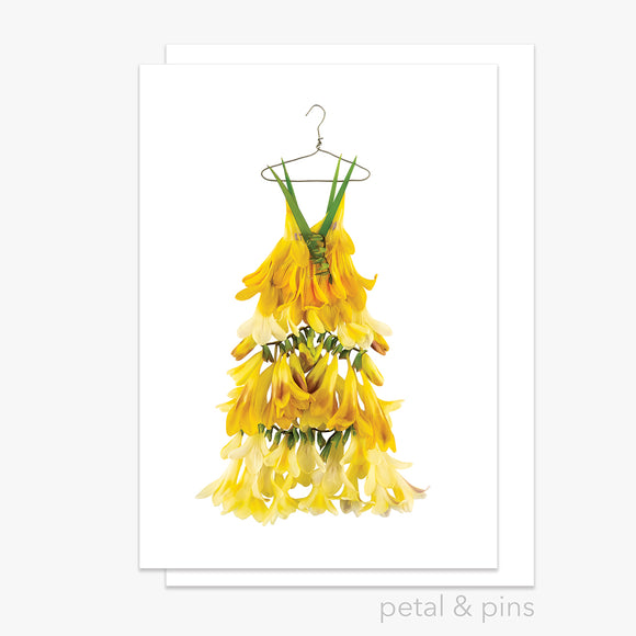freesia dress greeting card by petal & pins