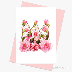 princess crown greeting card from the love letters collection by petal & pins