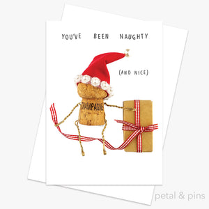 you've been naughty (and nice) Christmas greeting card by petal & pins
