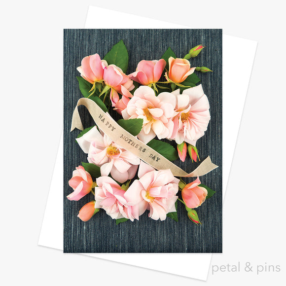 mothers day roses greeting card by petal & pins