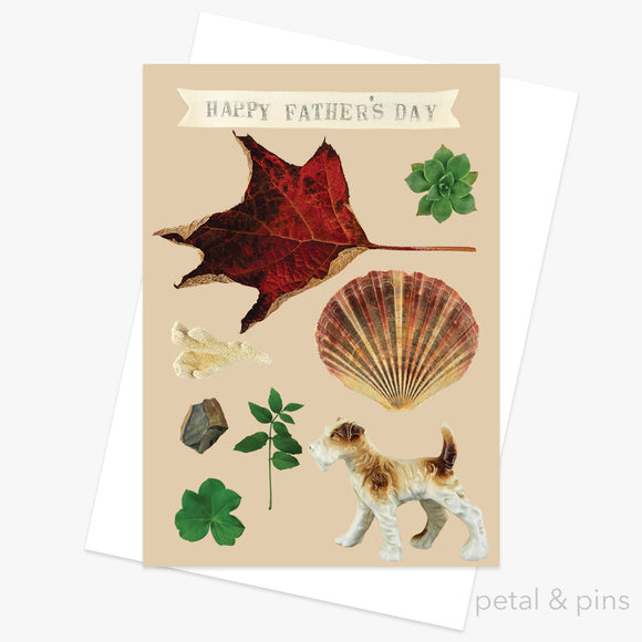 for dad - fathers day card by petal & pins