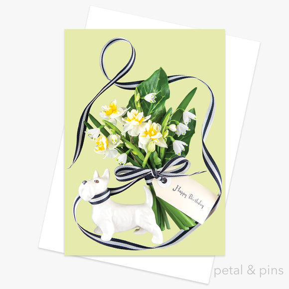 birthday bouquet greeting card by petal & pins