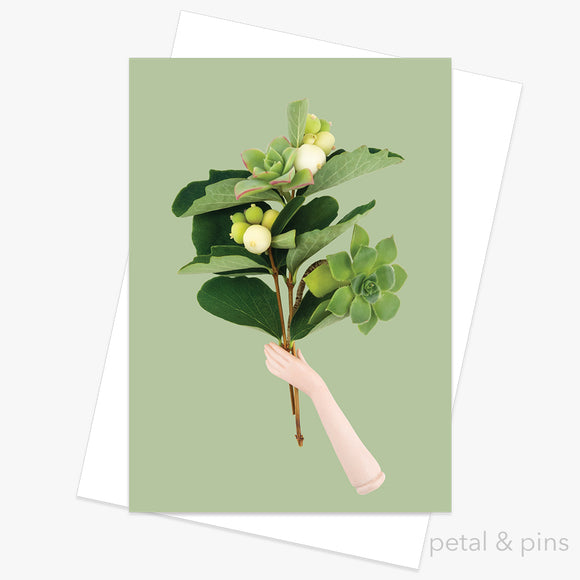 foraged bunch greeting card by petal & pins