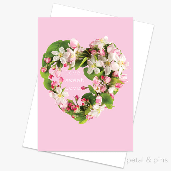 love sweet love greeting card by petal & pins