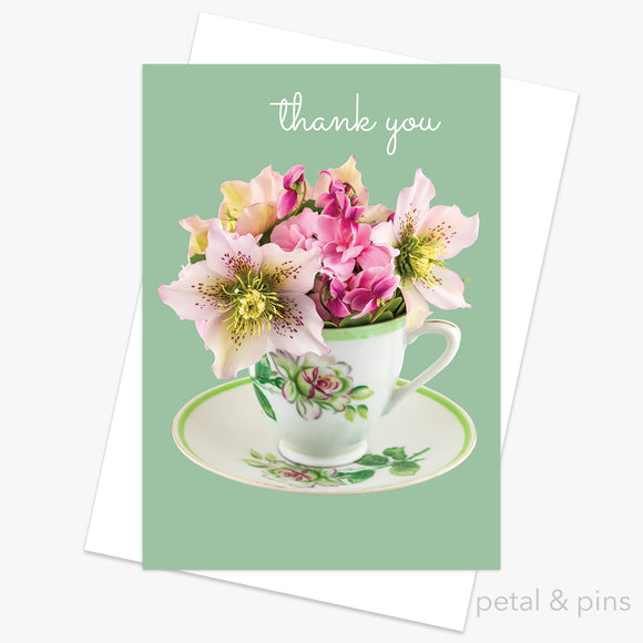 thank you greeting card from the scrapbook collection by petal & pins