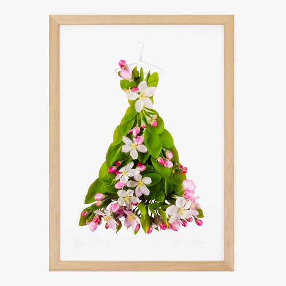 apple blossom dress art print by petal & pins