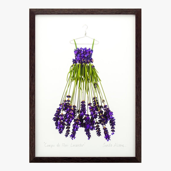campo de flori lavender dress art print by petal & pins