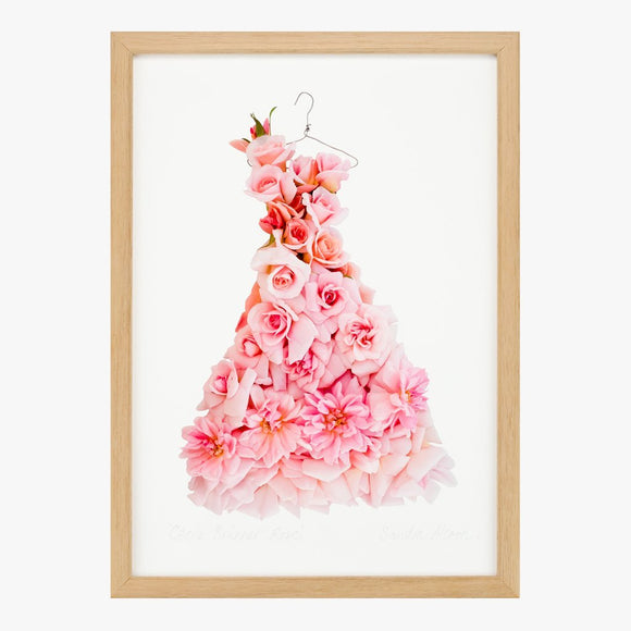 cécile brünner rose dress art print by petal & pins