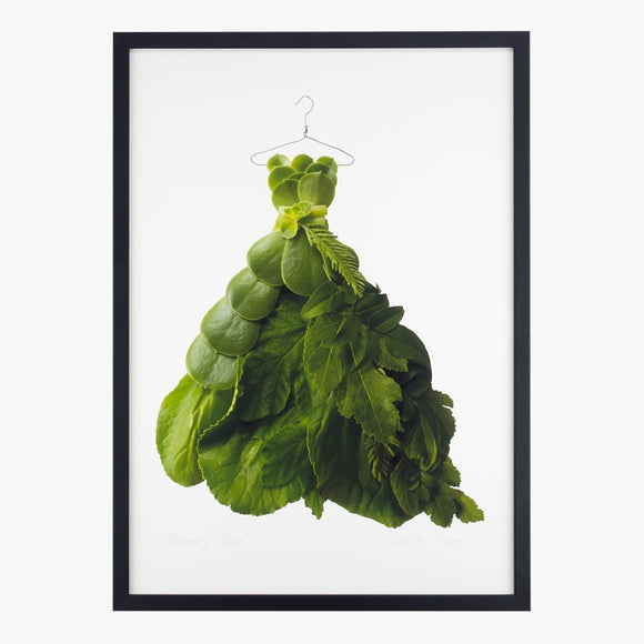 greenery gown art print by petal & pins