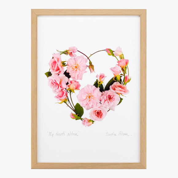 my heart's abloom art print by petal & pins