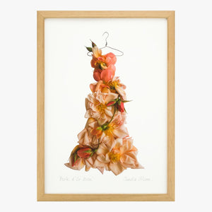 perle d'or rose dress art print by petal & pins