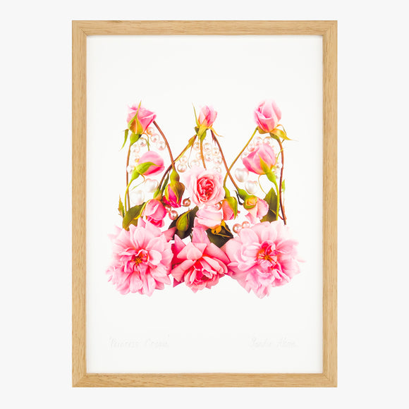 princess crown art print from the love letters collection by petal & pins
