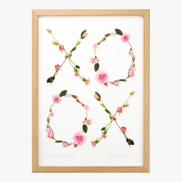 rose kisses art print by petal & pins