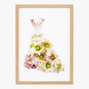 springtime dress art print by petal & pins