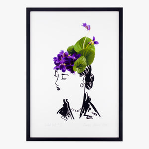 violet hat two art print by petal & pins