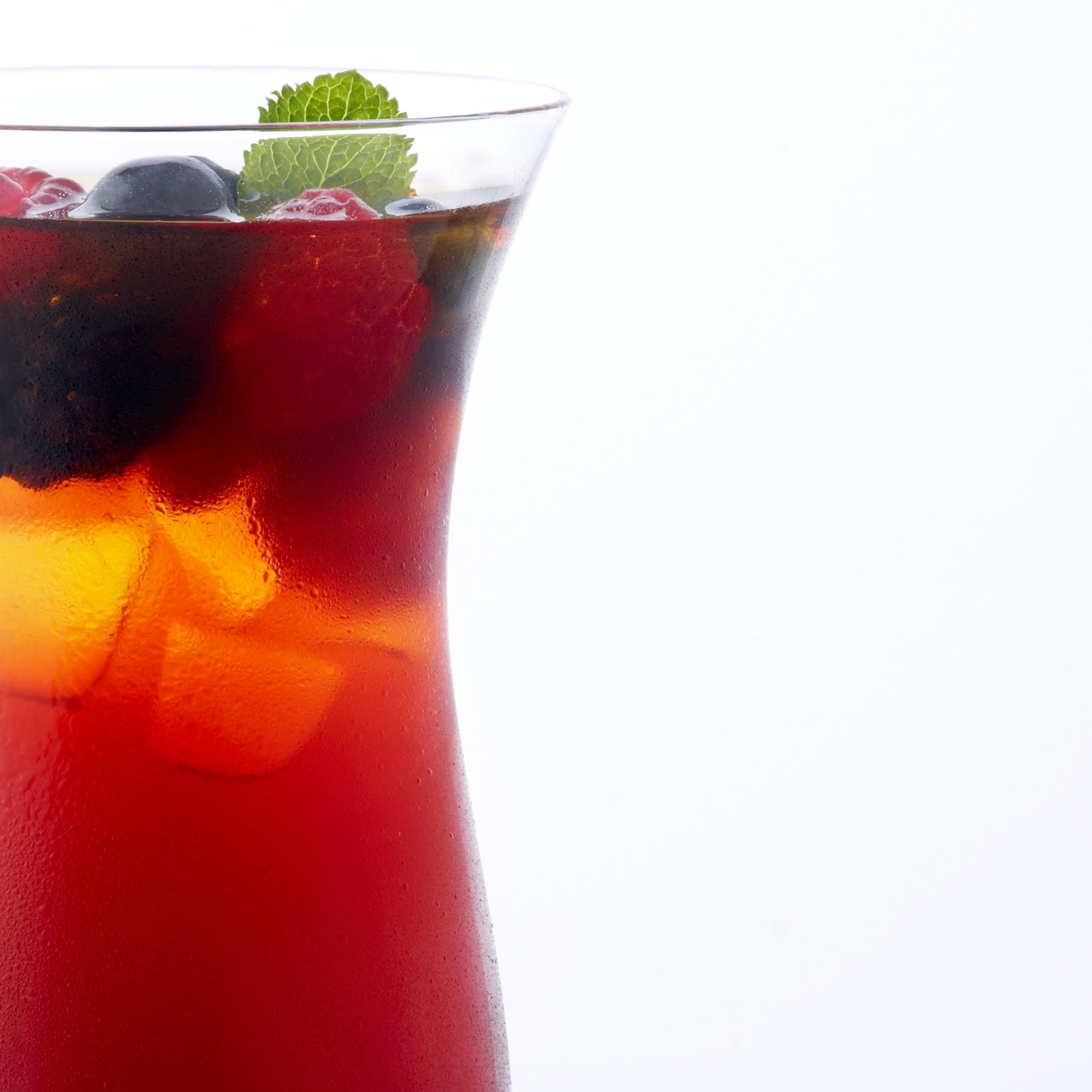 Berry iced red rooibos tea