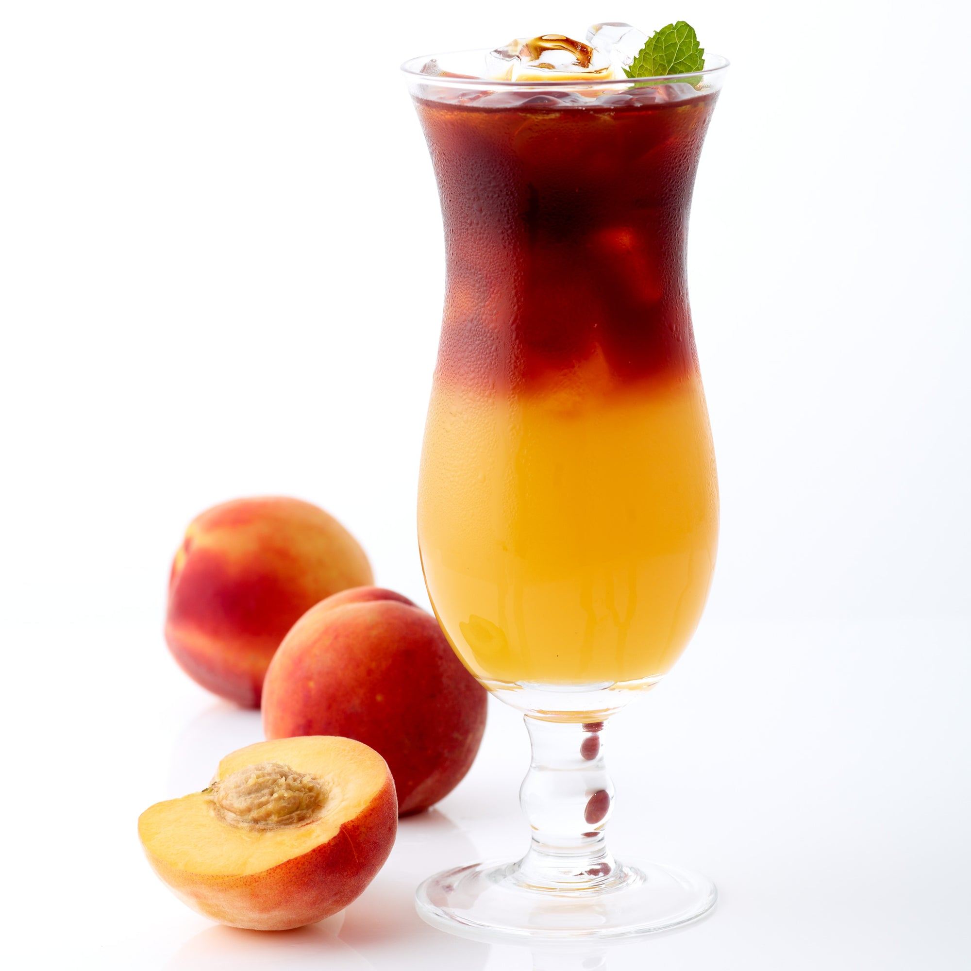 Fresh red® peach iced tea