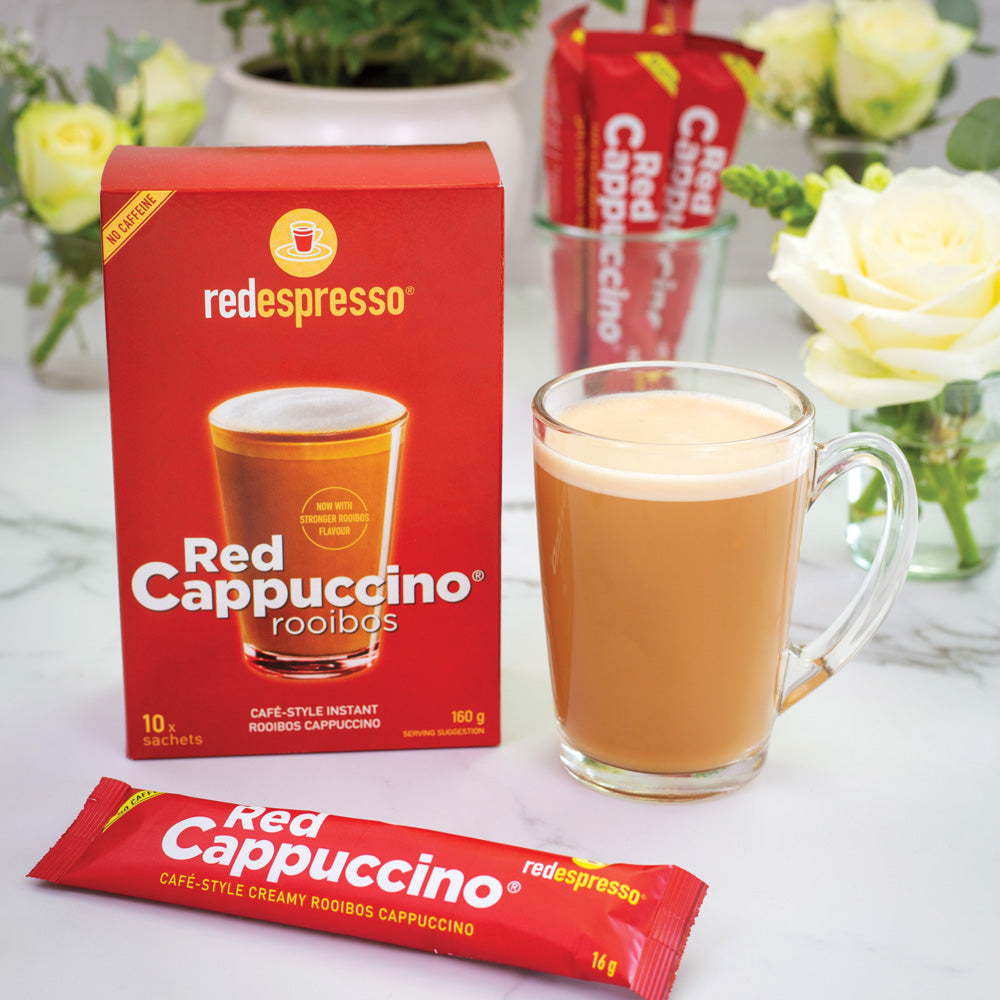 Make your favourite rooibos red cappuccino® in an instant