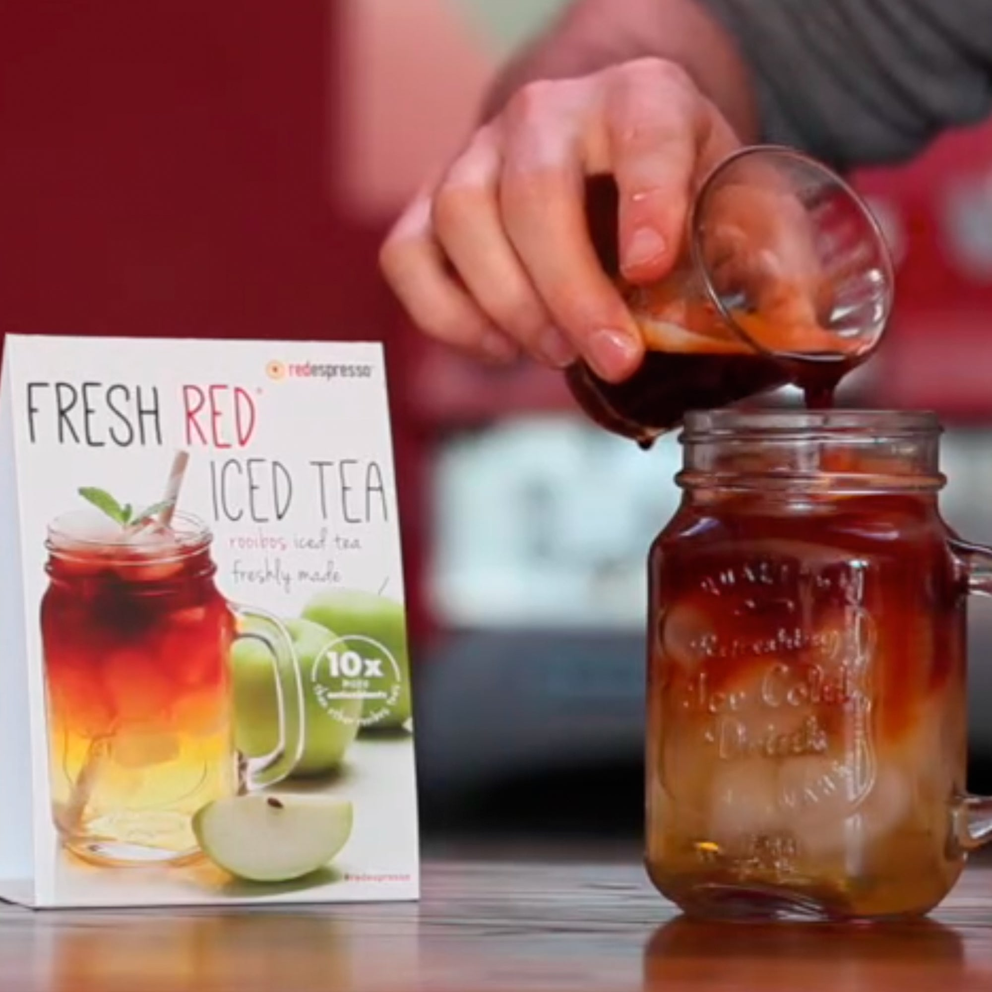 Serve our freshly made iced tea