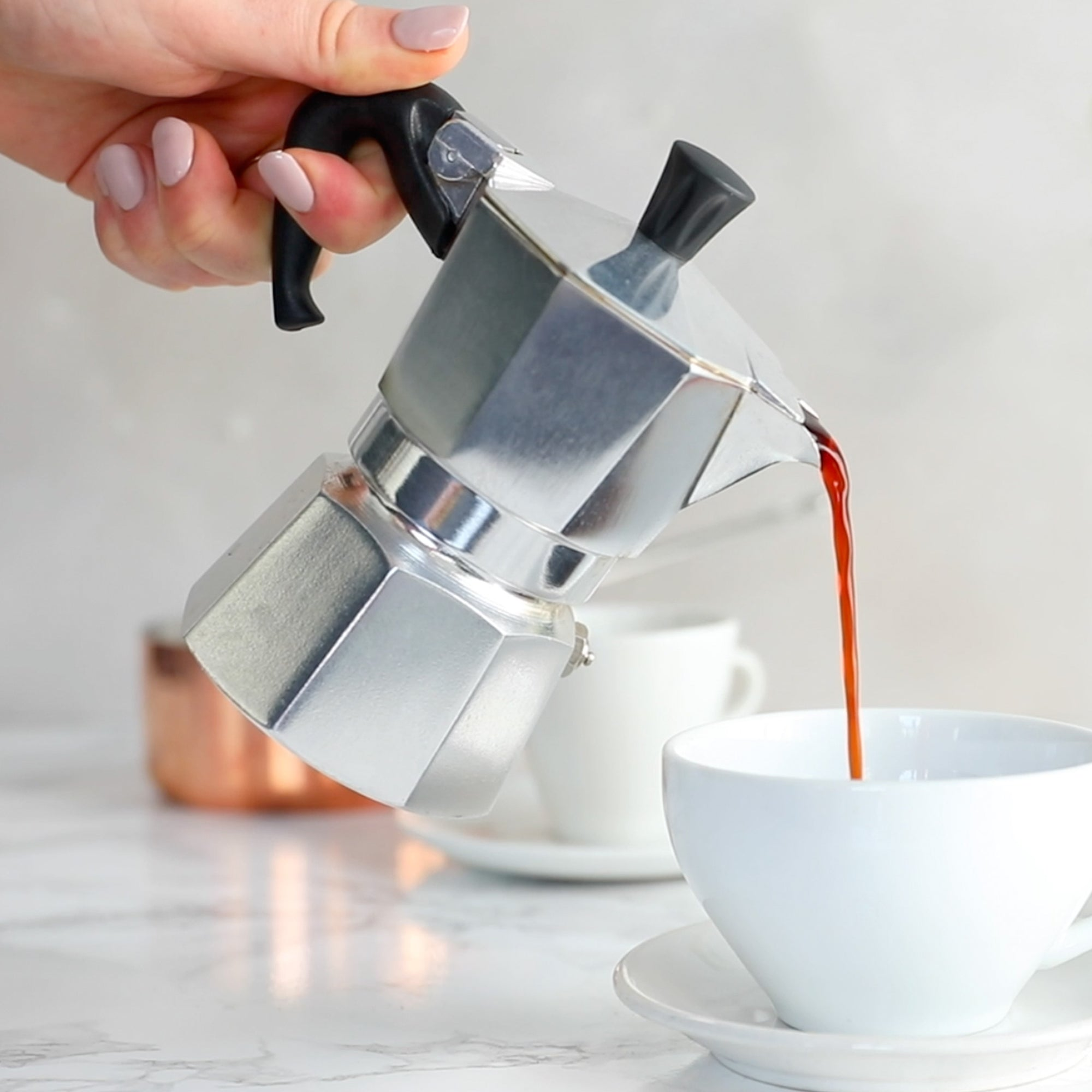 Make red espresso® rooibos on your stovetop espresso maker