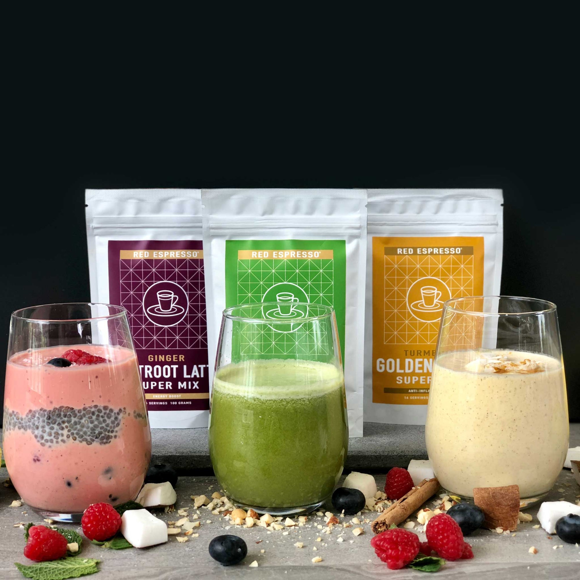Serve our superfood smoothies and juice