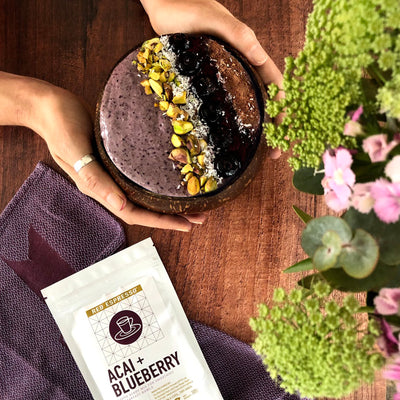 Smoothie booster powders – acai and blueberry mix