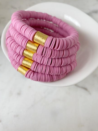 Rose Pink Color Pop Bracelet