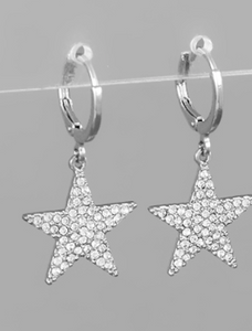 Diva Star Huggies Earrings