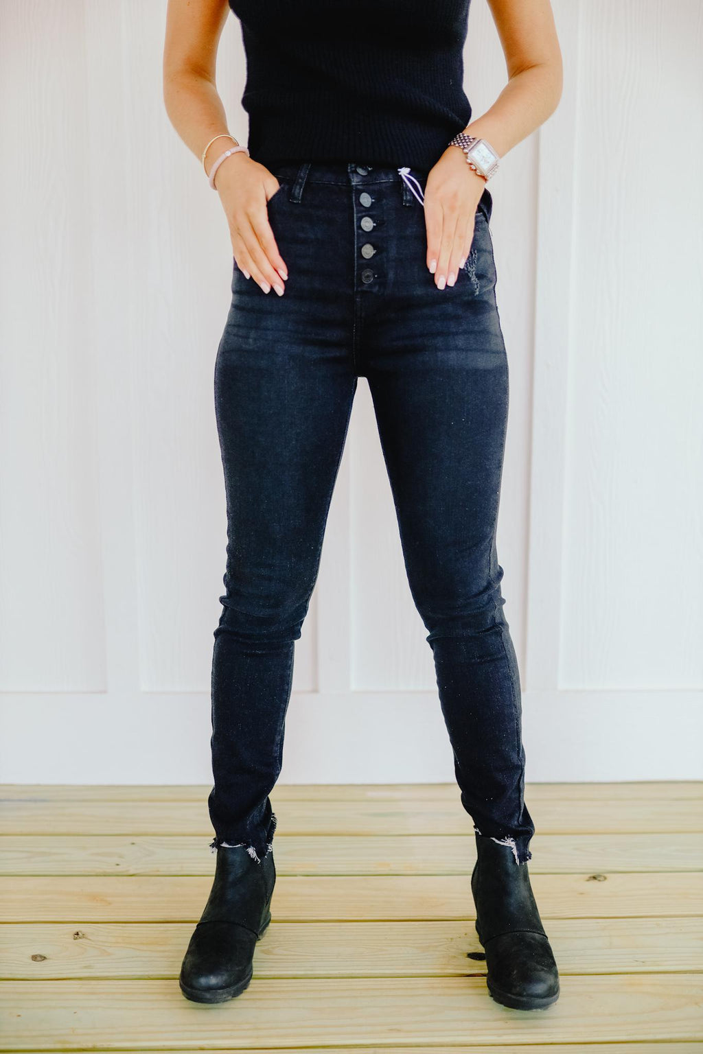 Black Sally Skinny Jeans
