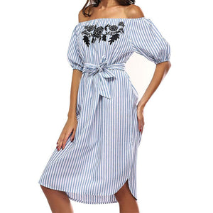 Off Shoulder Summer Dress