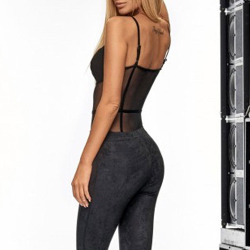 Mesh Hollow Out Bodysuit