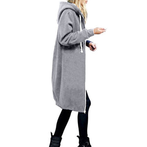 Long Zipper Hooded Jacket