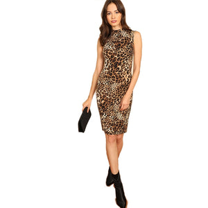 Leopard Knee Length
