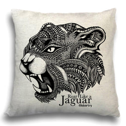 Ferocious Jaguar Cushion