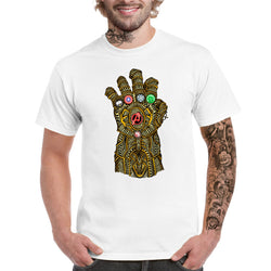 Coloured Thanos Gauntlet T-shirt