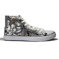 Ornate Horse Canvas Shoes
