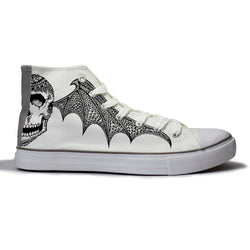 Skulled Bat Canvas Shoes