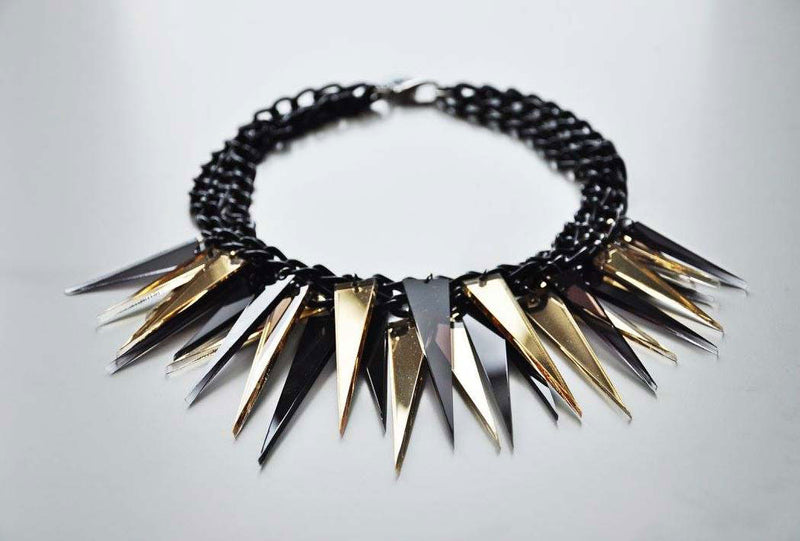 Spikes necklace TRANSPARENT / Spikes ogrlica PROZIRNA