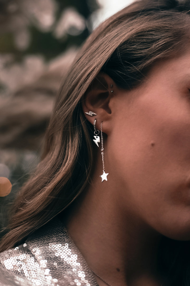 MOONCHILD Thunder zirkon hoop earrings