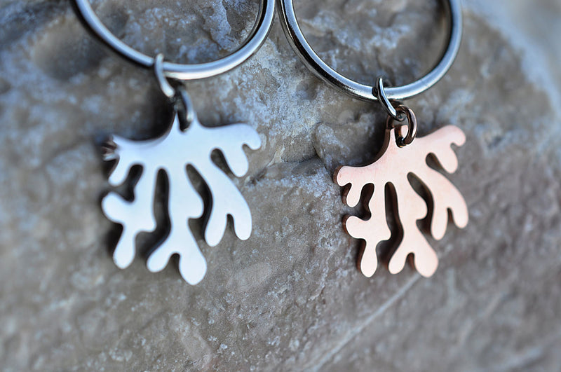 Silver plated CORAL earrings / Posrebrene KORALJ naušnice