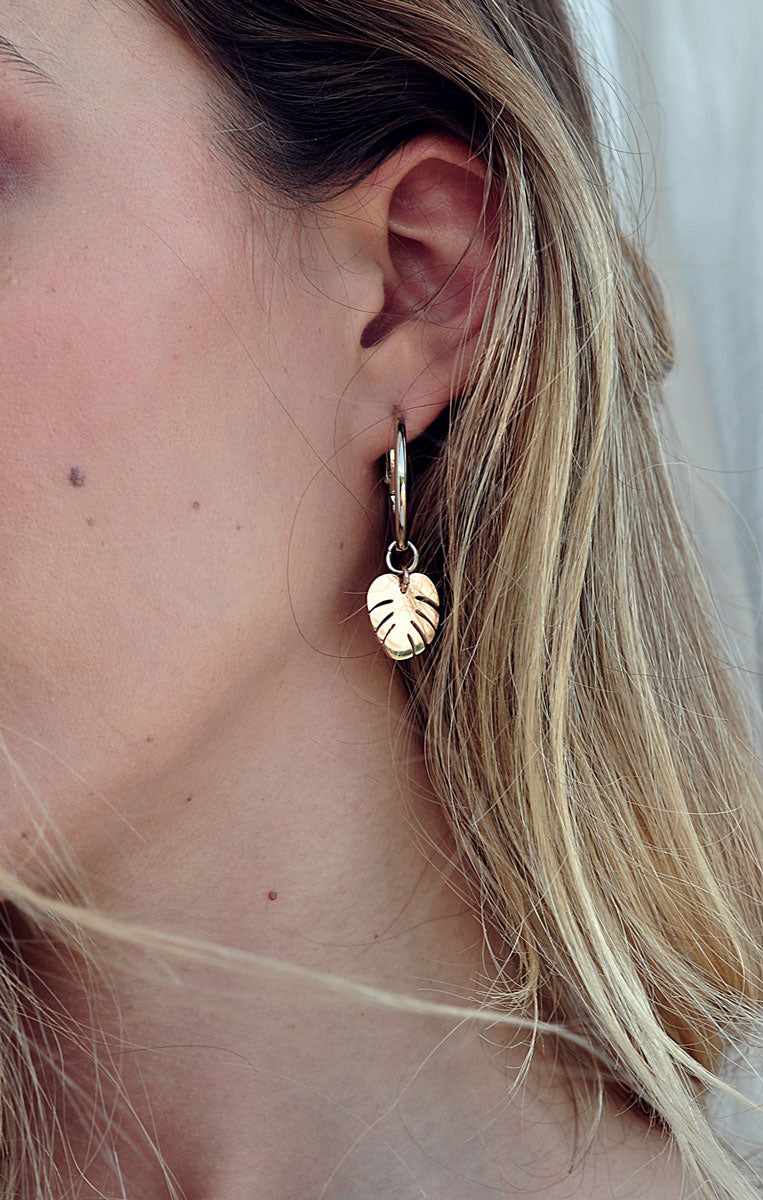 Silver plated MONSTERA earrings / Posrebrene MONSTERA naušnice